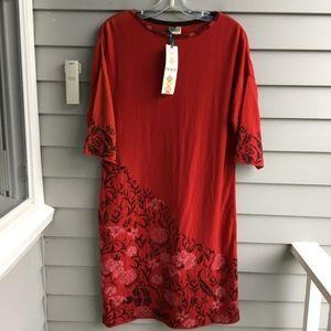 IVKO WOMAN Merino Wool Intarsia Floral Dress NWT